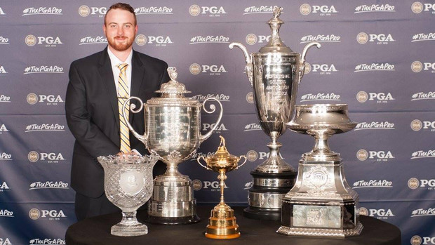 Nebraska's Vincent Bachteler is one of two students selected to shadow rules officials during the PGA Championship in Quail Hollow in North Carolina.