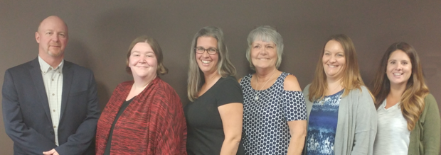 Members of University of Nebraska Center on Children, Families and the Law team are, from left, Jeffrey Chambers, Angel Shafer, Denise Packard, Mary Bothwell, Abby Burianek and Alexandra Labenz