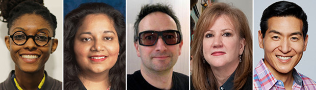 (From left) Ashley Baccus-Clarke, Preeta Bansal, Tom Barker, Susan Bonds and Tim Chang