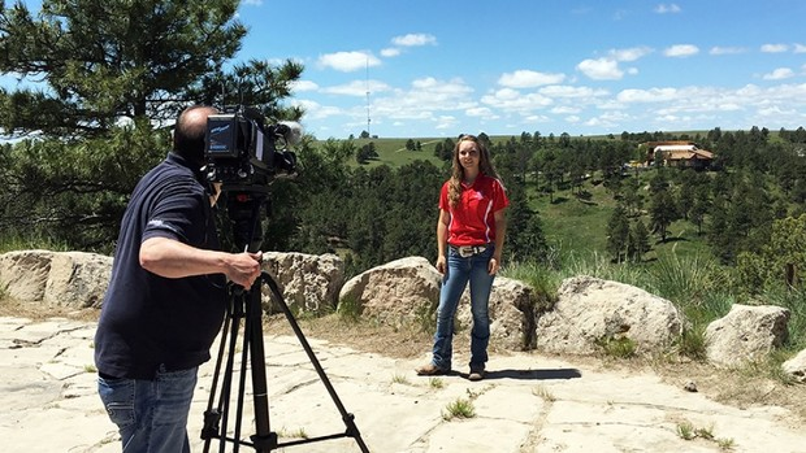 "Chrissy Peters during a ""Backyard Farmer"" segment that ran in June."