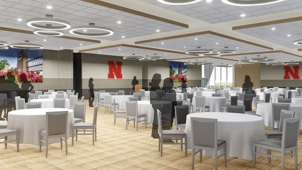 Concept drawing of the renovated Great Plains Room in the Nebraska East Union.