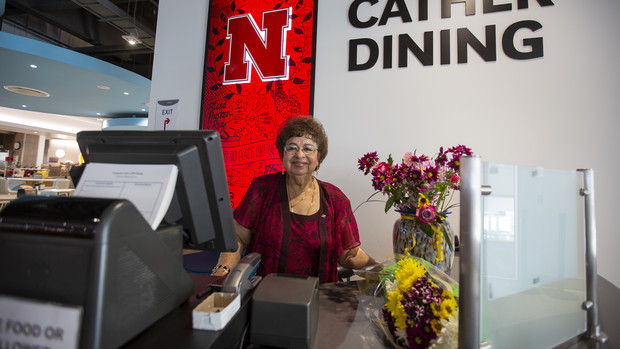 Nebraska's Flora Espinosa worked for 46 years in University Housing dining centers. For 22 of those years, Espinosa worked as a checker, interacting with thousands of students daily.