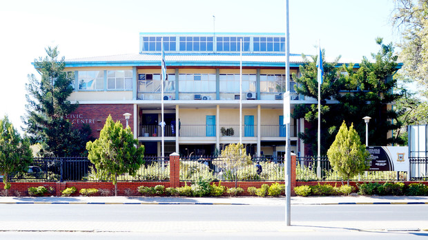 Gabrone Public Library, home to the Botswana Poetry Library in Gabrone.