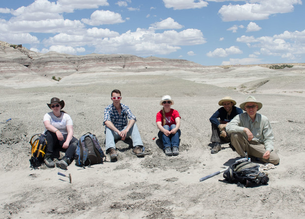 The UNL team at the dig site in New Mexico's San Juan Basin in 2014.