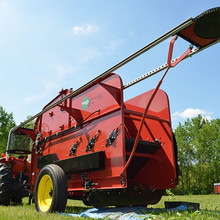 UNL's Department of Agronomy and Horticulture has purchased a portable field hops harvester that will be used for field demonstrations in August or early September. The harvest unit is designed for use by small growers (two acres or less) and offers an efficient way to collect cones from the hop bines.