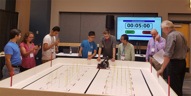 The Huskerbots team competes at the ASABE's international robotics student design competition, held in July in Spokane, Washington.