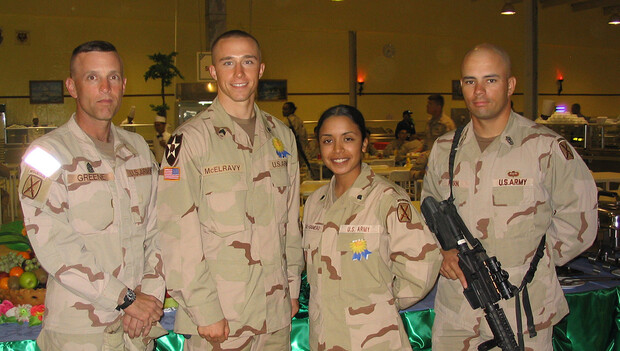 L.J. McElravy (second from left) is photographed in 2005.