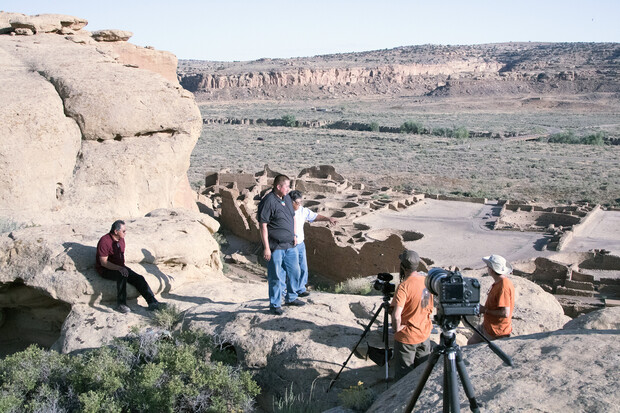 A small group of Native Americans are filmed speaking about their ancestral connection to Chaco Canyon. The films are available as resources to the book.