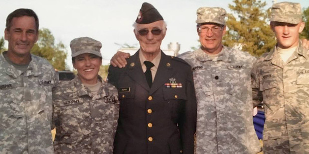 The Murphy-Kiffin family's military legacy spans four generations. Pictured with Molly Murphy (second from left) is (from left), her father, Dan Murphy; grandfather, Jim Murphy Sr.; uncle, Jim Murphy Jr.; and brother, Matt Murphy.