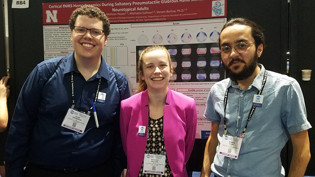 Jake Greenwood, Michaela Sullivan and Mohsen Hozan delivered presentations at Neuroscience 2018 in San Diego the week of Nov. 8.