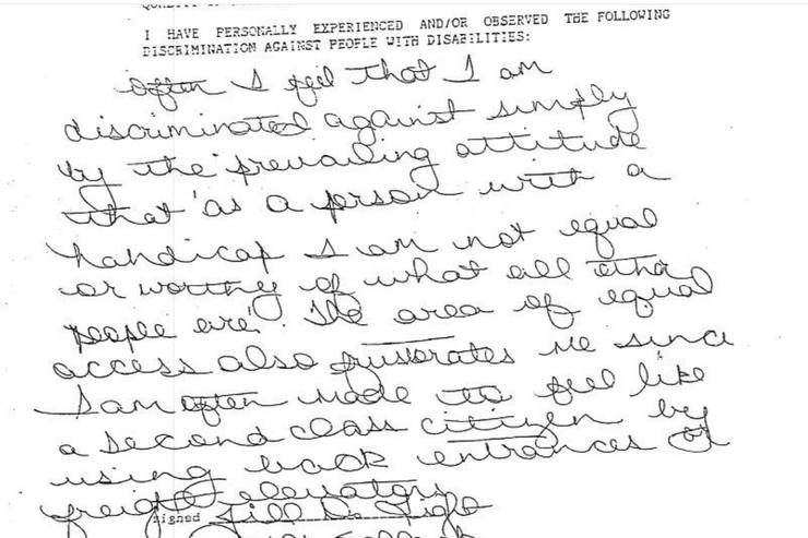 Jill Flagel written testimony