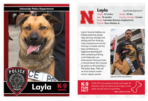 Info card: Layla and Russ Johnson