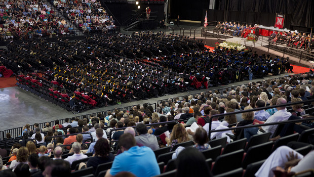 The All-University Commencement at Pinnacle Bank Arena on Aug. 16.