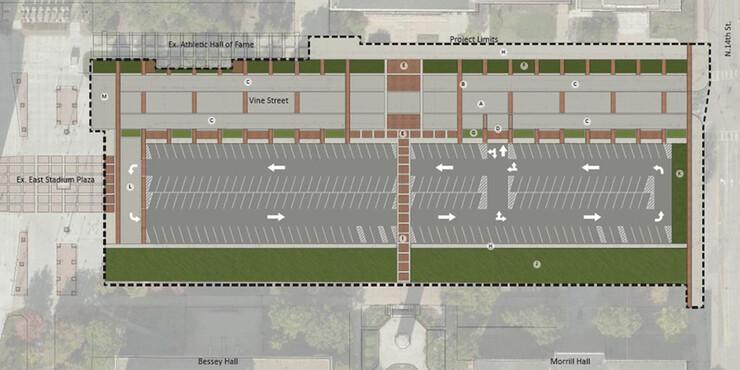 Conceptual drawing of the Memorial Loop Road upgrade.