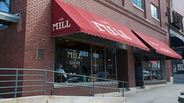 The Mill storefront in Lincoln's Haymarket.