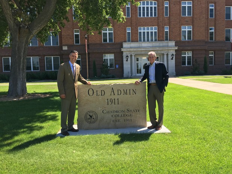 Nebraska Law Dean Richard Moberly (left) and Thomas M. Maul, president of the Nebraska State Bar Association.