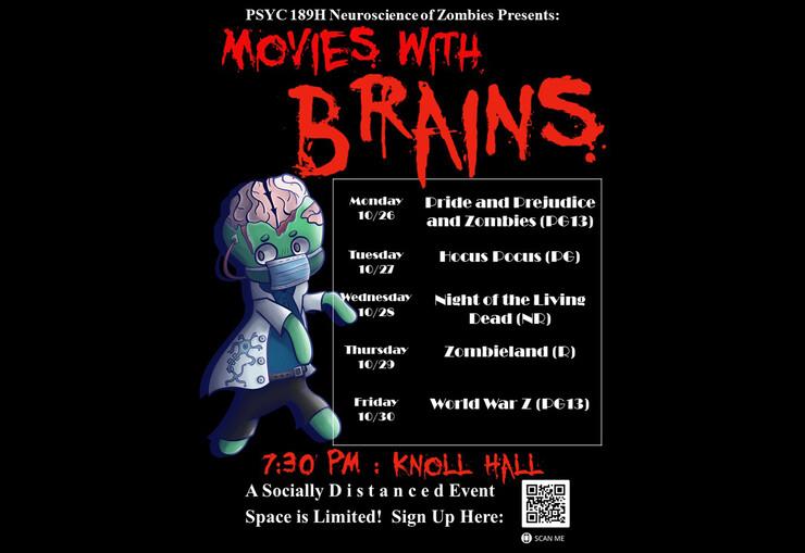 Movies with Brains film schedule