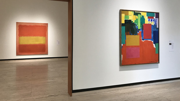 """Paintings by Mark Rothko (left) and Hans Hofmann are included in """"Now's the Time,"""" open through Dec. 31 at Sheldon Museum of Art."""