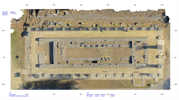 3-D model of the Temple of Hera generated from images captured by UNL's Philip Sapirstein.