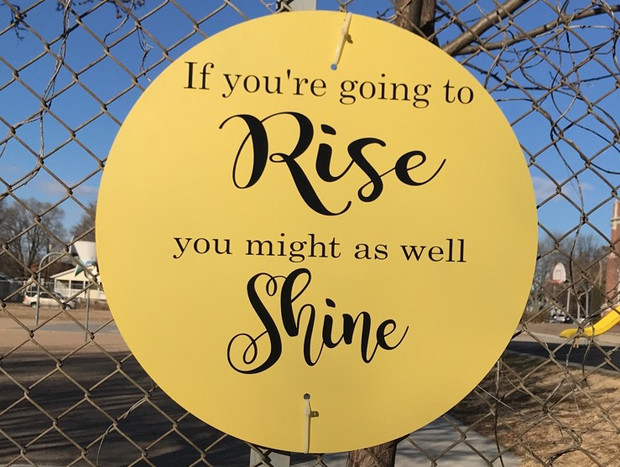 Rise and Shine sign