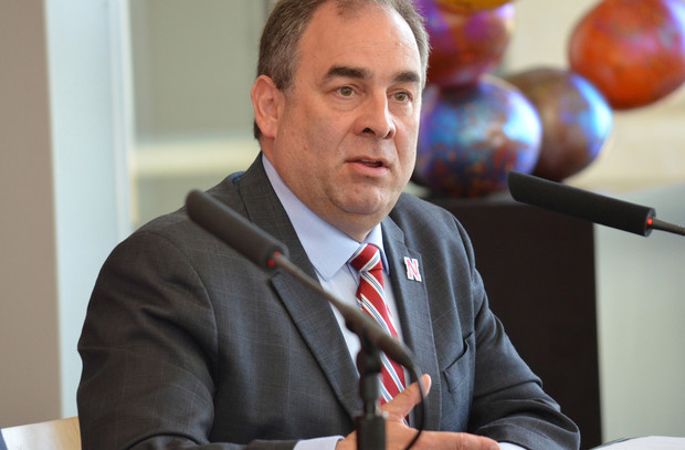 Mario Scalora, director of the Nebraska Public Policy Center and professor of psychology, talks during the June 6 announcement that funding for the National Strategic Research Institute has been renewed.
