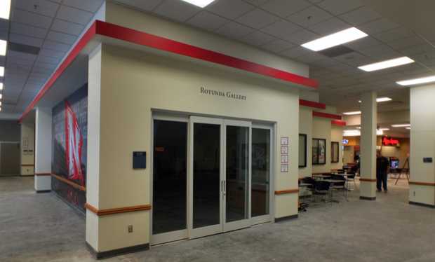 The Nebraska Union's Rotunda Gallery is being renovated to become a new Union Bank and Trust branch location. Gallery space is being created in Love Library to replace the loss of the Nebraska Union gallery.