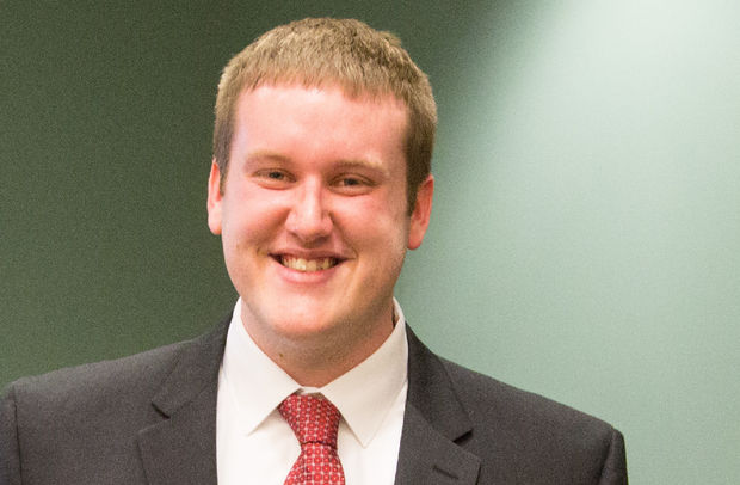 The Peter Kiewit Student Entrepreneurial Award winner was senior management major Justin Kyser, founder of DivviMap.