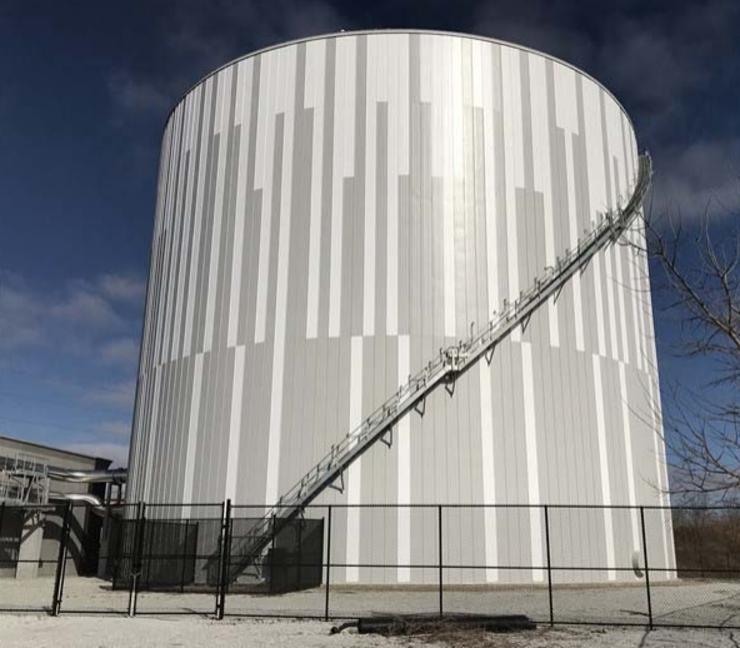 University of Nebraska–Lincoln's 8.29-million-gallon thermal energy storage tank.
