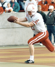 Husker baseball coach Darin Erstad was a two-sport athlete in college. Along with playing baseball, he served as punter on the 1994 Husker football NCAA championship team.