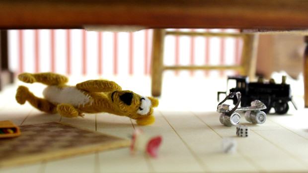 """Under the Bed,"" a miniature display in the Kruger Gallery's new ""Dream Space 