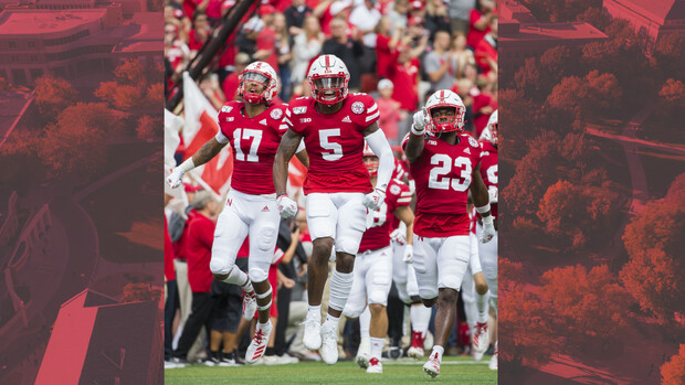 In the last two years on campus, Maddie Washburn shot photos for the Huskers. She shot this image as the Huskers stormed the field to face South Alabama in Memorial Stadium in 2019.