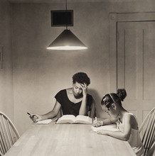 """Guest curator Charlie Foster, interim assistant to the vice chancellor for student affairs, selected this photo, """"Kitchen Table Series"""" by Carrie Mae Weems for the """"15 Photographs, 15 Curators"""" exhibition."""