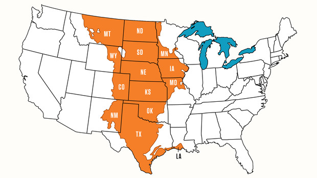 The Nebraska research team assessed 14 ecoregions in the Great Plains, from Montana to Texas and Louisiana.