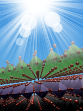 Cover illustration from Advanced Energy Materials featuring findings of a Nebraska research team led by Xiao Cheng Zeng.