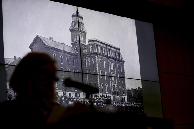 University Hall, the first building on campus, was a focus of the Feb. 12 Nebraska Lecture.
