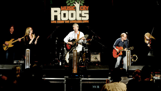 Stephanie Taylor performs with the Boxty Bluegrass Band at Music City Roots.
