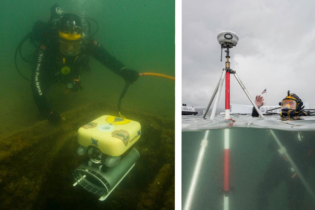 Divers from the National Park Service are using remote-operated vehicles to explore the interior of the USS Arizona. Don Johnson hopes new data obtained by the interior searches can be used to further define the effects of corrosion on the sunken battleship.