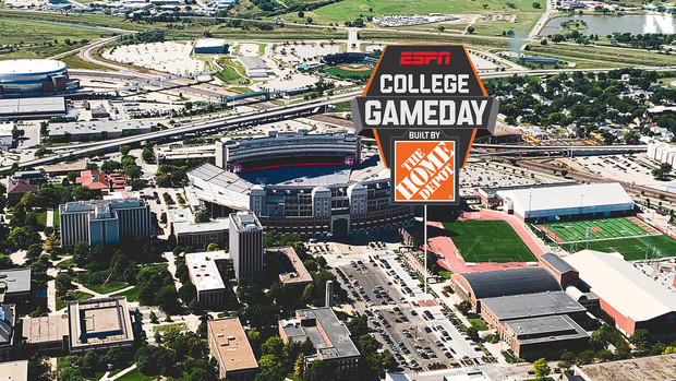 The ESPN GameDay stage will set up in the brick pad on the south side of the Coliseum.