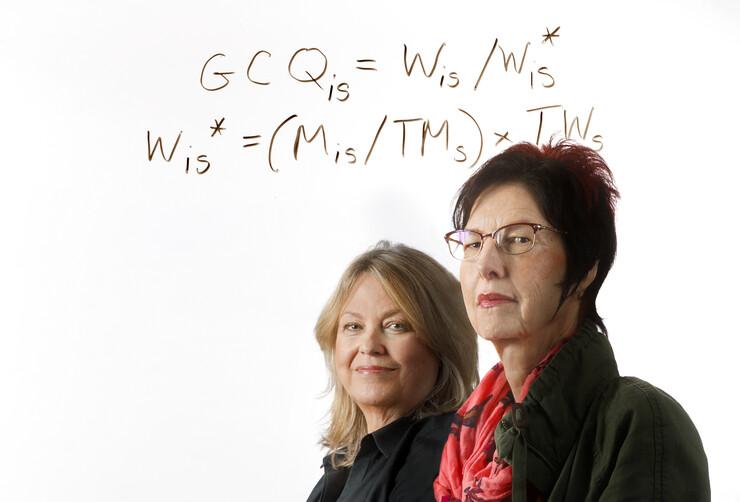 Nebraska researchers (left) Ann Mari May and Mary G. McGarvey