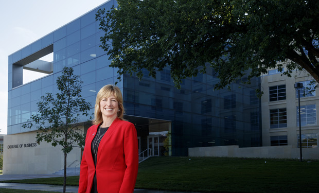 Kathy Farrell, a Nebraska faculty member since 1993, has been named dean of the College of Business. She has served as the college's interim dean since January 2017.