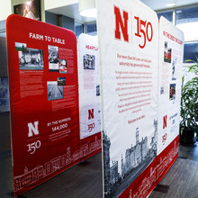 The N150 traveling exhibition was designed with assistance from a freelance artist and funded through donor contributions. It will shift to the State Capitol from Feb. 19 to March 14 before making a stop in O'Neill.