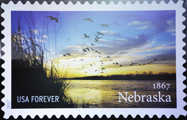 The new Nebraska Statehood Forever Stamp features a photo by the university's Michael Forsberg.
