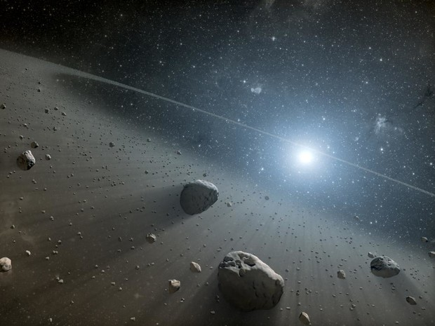 Concept of asteroids near the star Vega