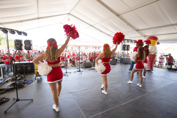 Nebraska State Fair visitors can cheer along with Husker cheerleaders during Red Out Day on Sept. 3. The 2017 fair runs from Aug. 25 to Sept. 4 in Grand Island.