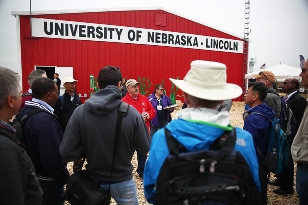 Attendees at Husker Harvest Days, Sept. 12-14 near Grand Island, can find the University of Nebraska-Lincoln's Husker Red steel building at Lot 321 on the south side of the exhibit grounds.