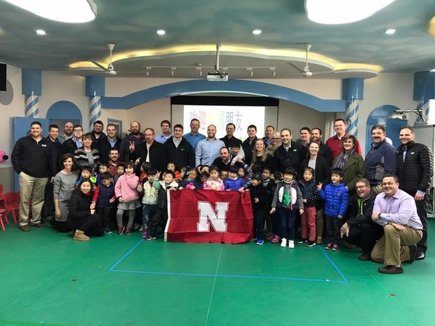 Nebraska LEAD 35 fellows visit a kindergarten class in Shanghai, China. As part of the two-year agricultural leadership development program, Nebraska LEAD fellows participate in a 14-16 day international travel seminar.