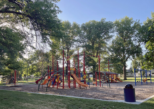 Chilvers Park was installed in 2018, funded by a grant from the Kiewit Foundation, community donations and the City of Plainview. The park was listed as a high to moderate priority by a majority of Plainview residents.