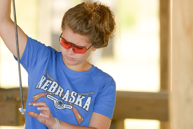 A Nebraska 4-H member participates in the 2017 4-H Shooting Sports National Championships. The annual event returns to Grand Island June 24-29.