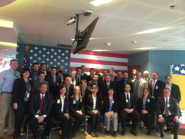 LEAD 35 fellows with Foreign Agricultural Service officials at the U.S. Embassy in Bangkok, Thailand.