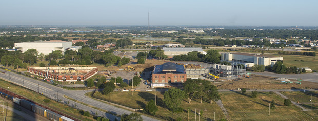 Construction continues on Nebraska Innovation Campus in this image from September.